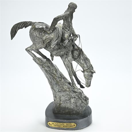 "Frederic Remington (After) American ""Mountain Man"" Bronze Sculpture"
