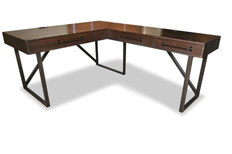 Corner Desk with Built in Power