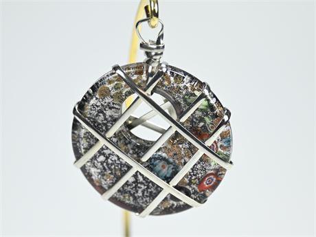 Millefiori Art Glass Pendant