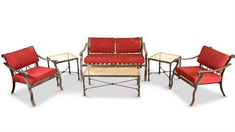 Luxurious Six Piece Patio Sofa Set