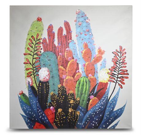 Embellished Print on Canvas