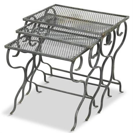 Vintage Iron Nesting Tables