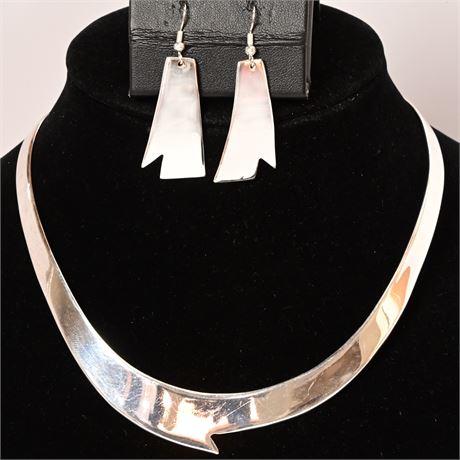Contemporary Earring & Choker Set