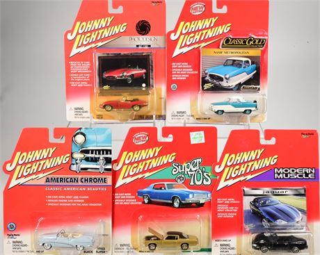 5 Johnny Lightning Classic Cars