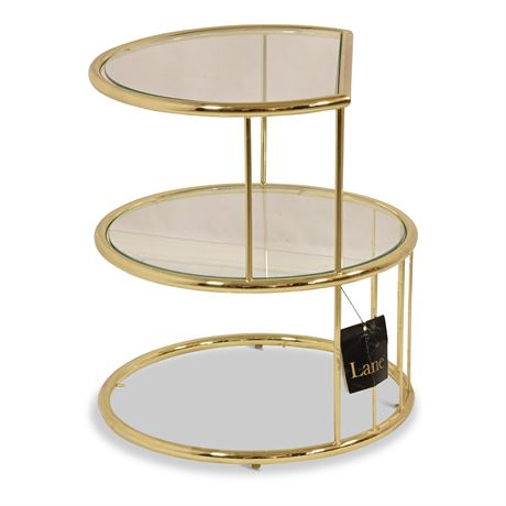 Vintage Lane Brass and Glass Side Table