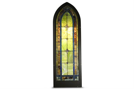 Architectural Salvage Stained Glass Window