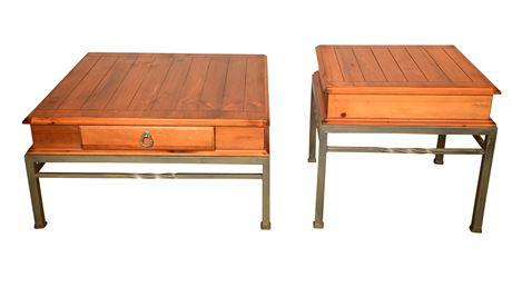 LANE Iron & Wood Living Room Tables