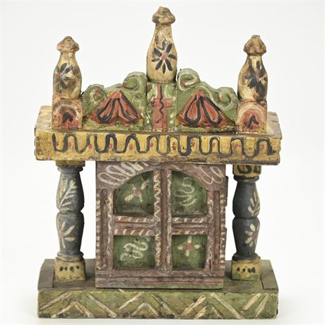 Carved Mexican Folk Art Oratorio