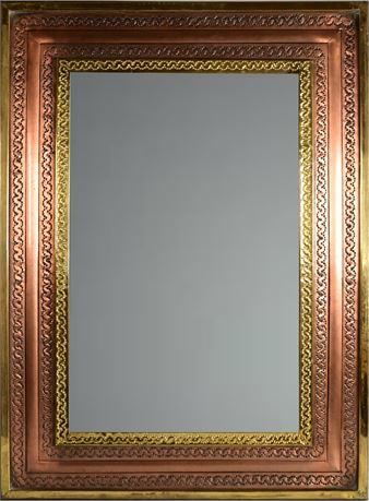 Copper and Brass Mirror