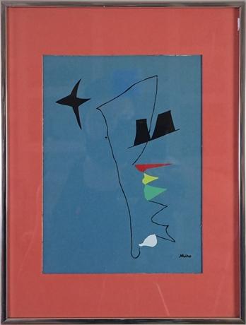 "Joan Miro ""Blue Star"" Lithograph"