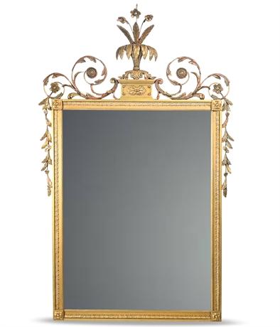 Antique Empire Style Gilded Mirror