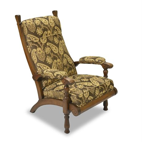 Antique Armchair with Footstool