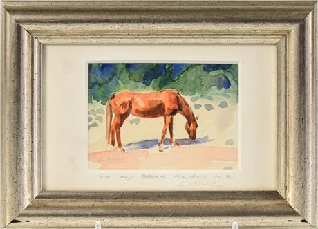 Gary Yazzie Equine Watercolor