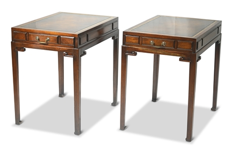 Ming Style Weiman Heirloom Mahogany Side Tables