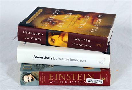 Set of 3 Books:  Leonardo DaVinci - Albert Einstein - Steve Jobs