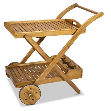 Classic Wood Beverage Cart