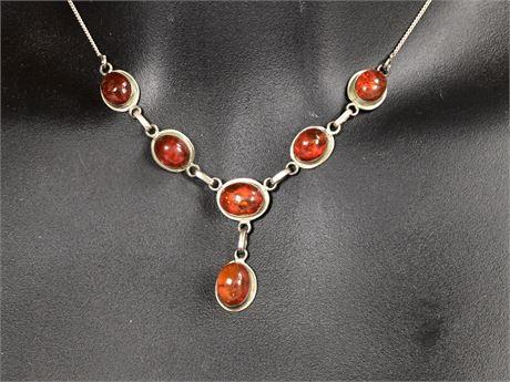 Italian Amber Necklace