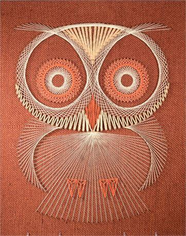 Vintage String Art Owl