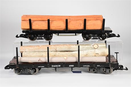 LGB - Lehmann #4060 Logging Flat Bed Car