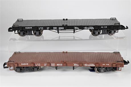 LGB - Lehmann D&RGW Flat Bed Cars