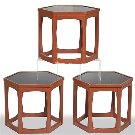 Mid-Century Lacquered Octagonal Side Tables