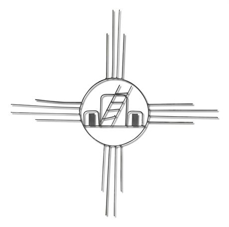 Metal Zia Wall Sculpture