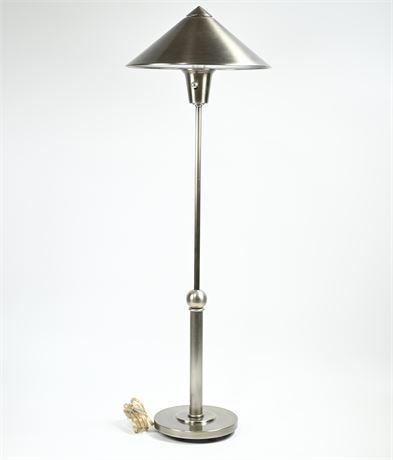 Brushed Steel Adjustable Height Lamp