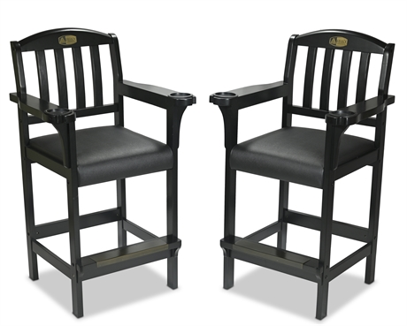 Pair Legacy Billiards Game Room Spectator Chairs