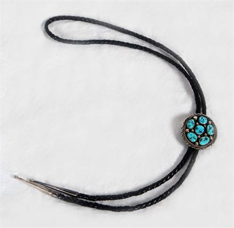 Turquoise and Silver Bolo