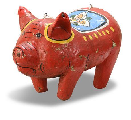Vintage Mexican Folk Art Pig