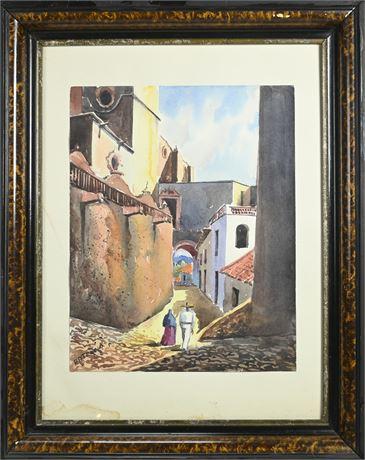 Rocko Framed Watercolor