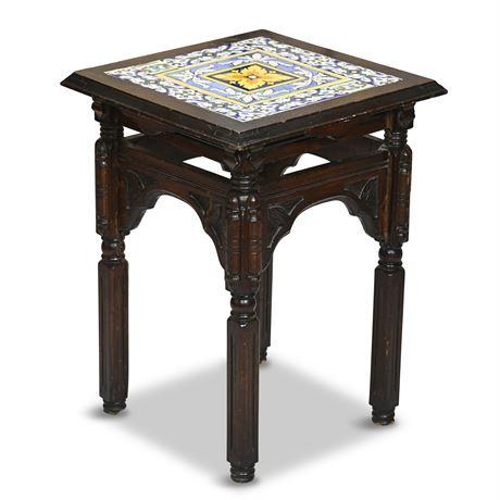 Majolica Side Table