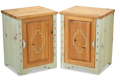 Santa Fe Carved Side Cabinets