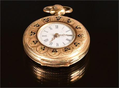 Antique Ladies 14K Pocket Watch