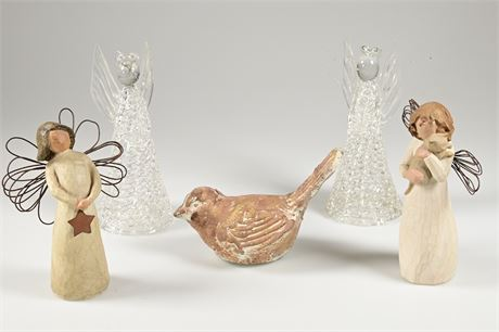 Willow Tree, Blown Glass Angels +