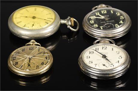 Parts or Repair; Vintage Pocket Watches