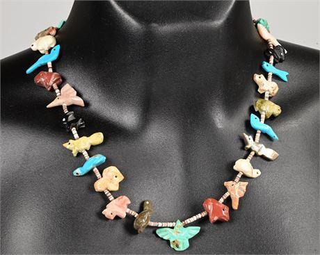 Vintage Zuni Fetish Necklace