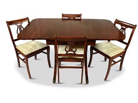 Duncan Phyfe Style Drop Leaf Table