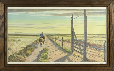 """Peter Hurd """"The Long Fence"""" Limited Edition Print"""