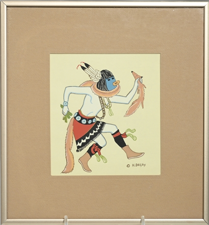 Harrison Begay Serigraph, Navajo Artist