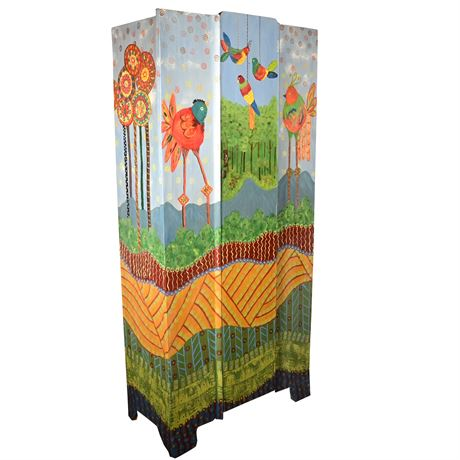 Whimsical Hand Painted Cupboard