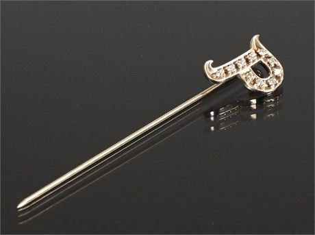 14K and Diamond Stick Pin