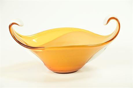 Vintage Sculptural Murano Glass bowl
