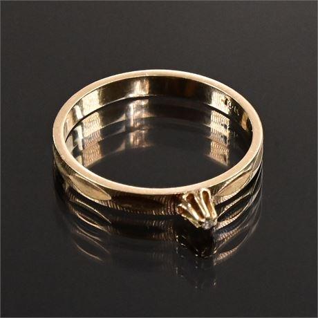 10K Diamond Chip Ring