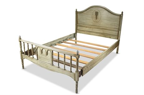 Antique French Provincial Spindle Bed
