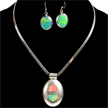 Sterling Necklace and Earring Set