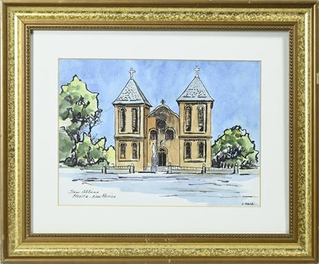 S. Marsh Original Watercolor