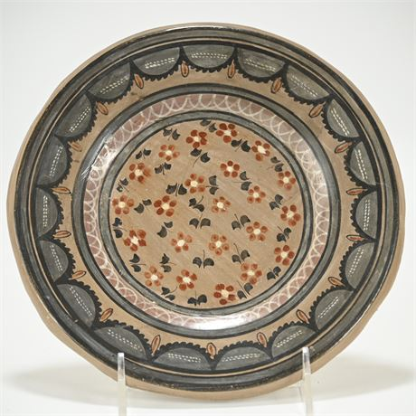 Vintage Mexican Tonala Ceramic Charger by Solis