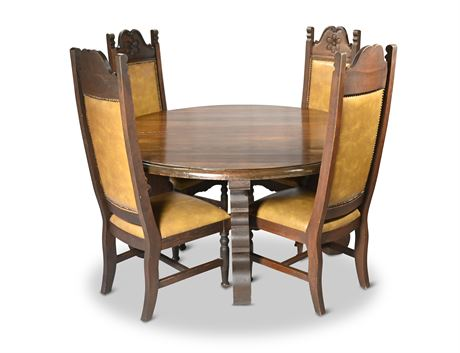 Hand Carved Dining Set From Mexico