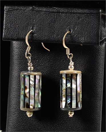 Inlaid Mother of Pearl Earrings